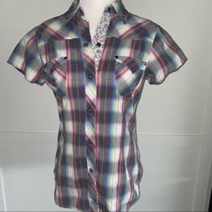 Roper Pearl Snap Short Sleeve Button Up XS